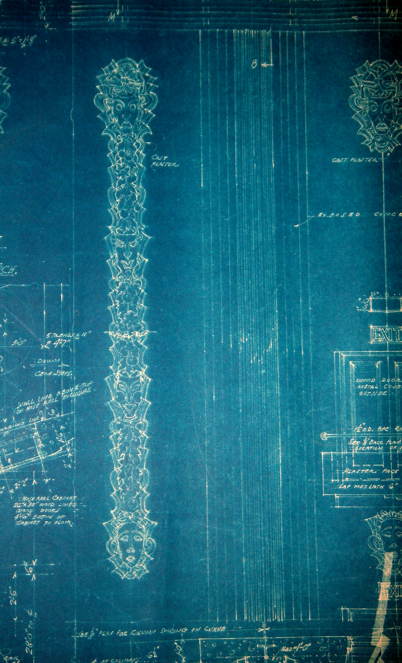 El rey theatre blueprints show whats missing timothy pflueger blog el rey blueprints malvernweather Choice Image
