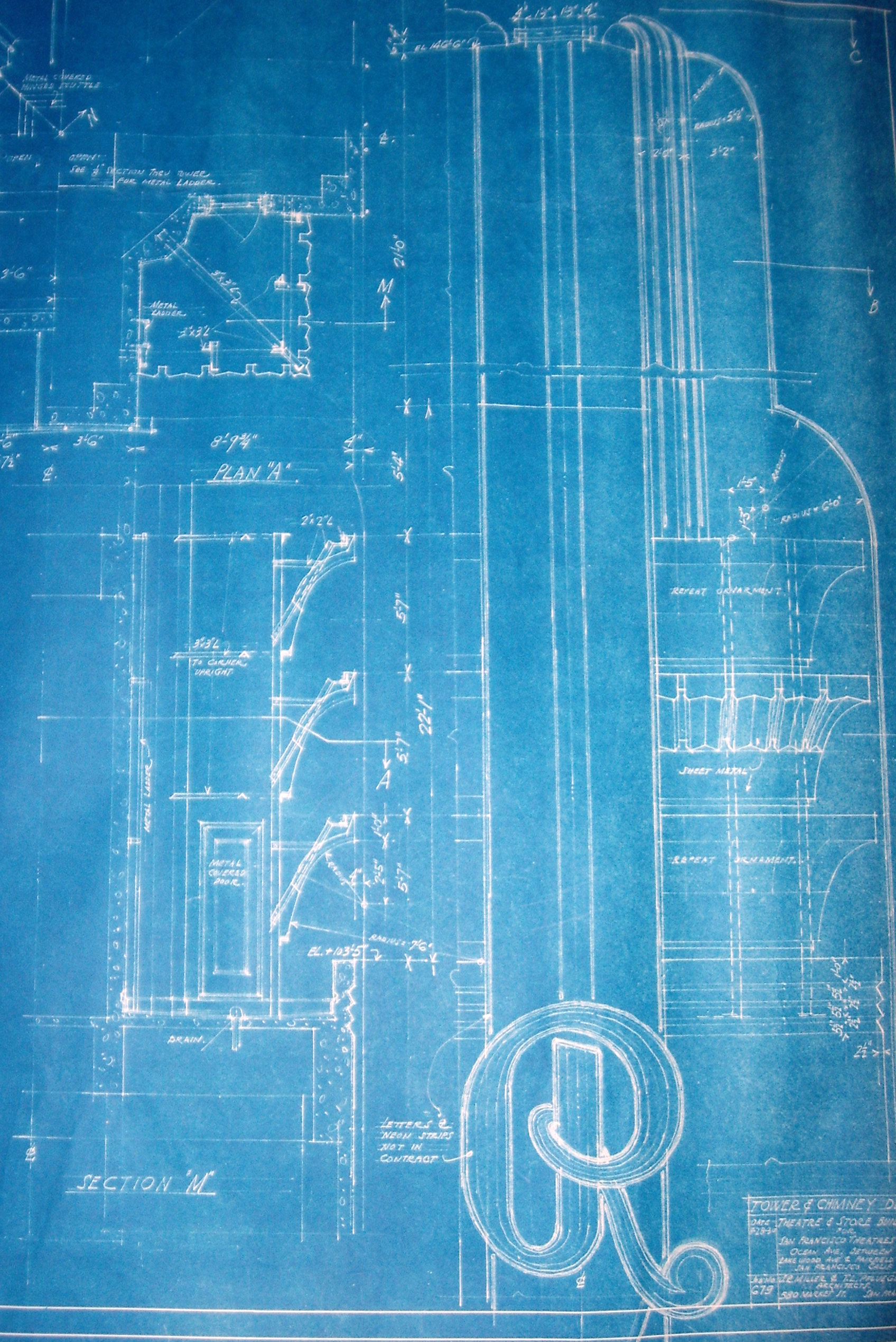 Paramount theatre timothy pflueger blog for Where to get blueprints