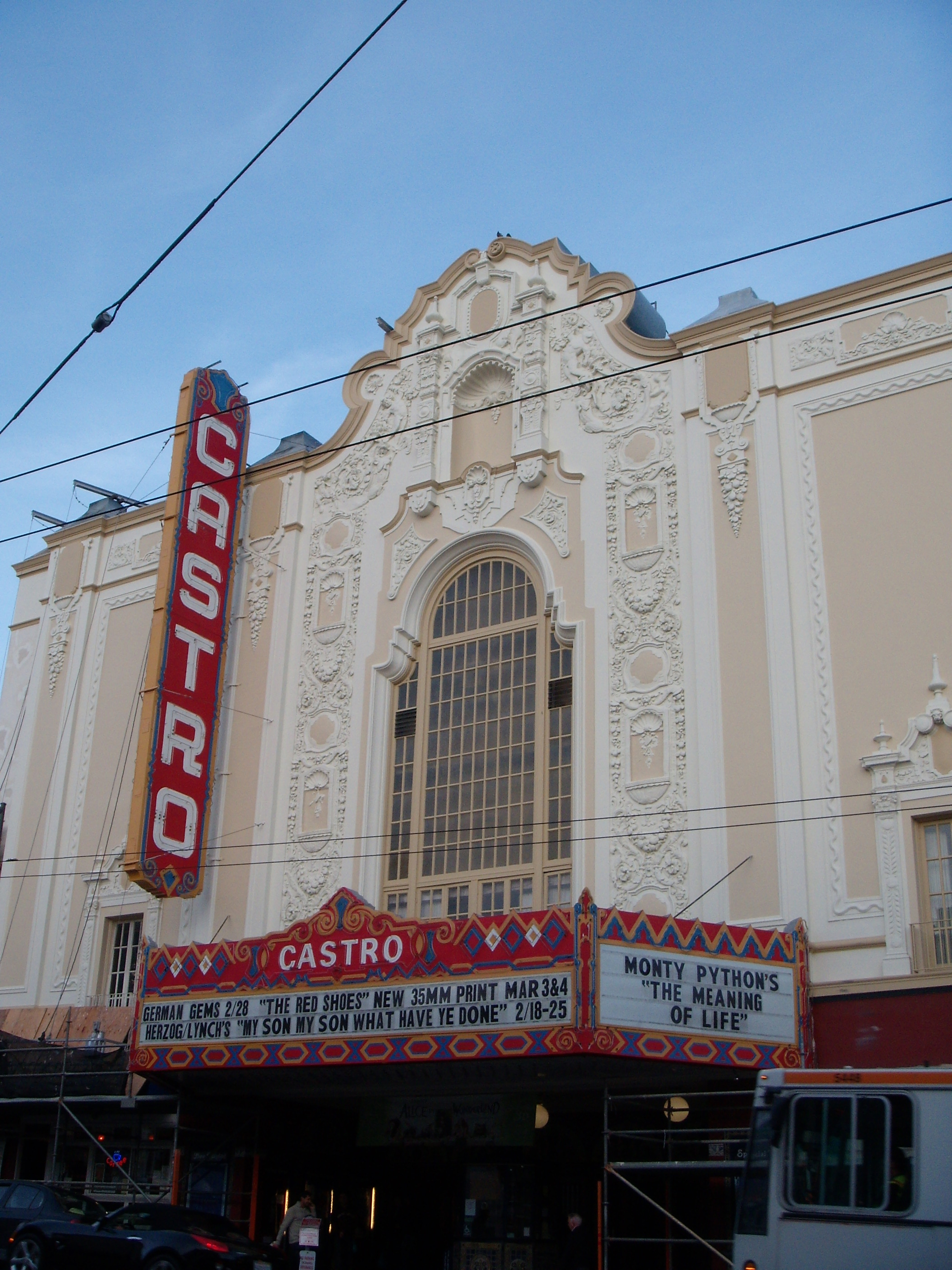 Freshly painted Castro Theatre by day