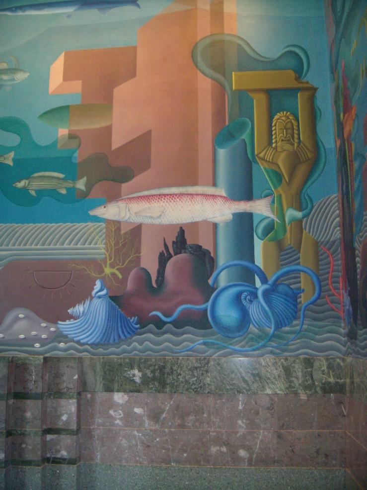 Aquatic Park mural restored