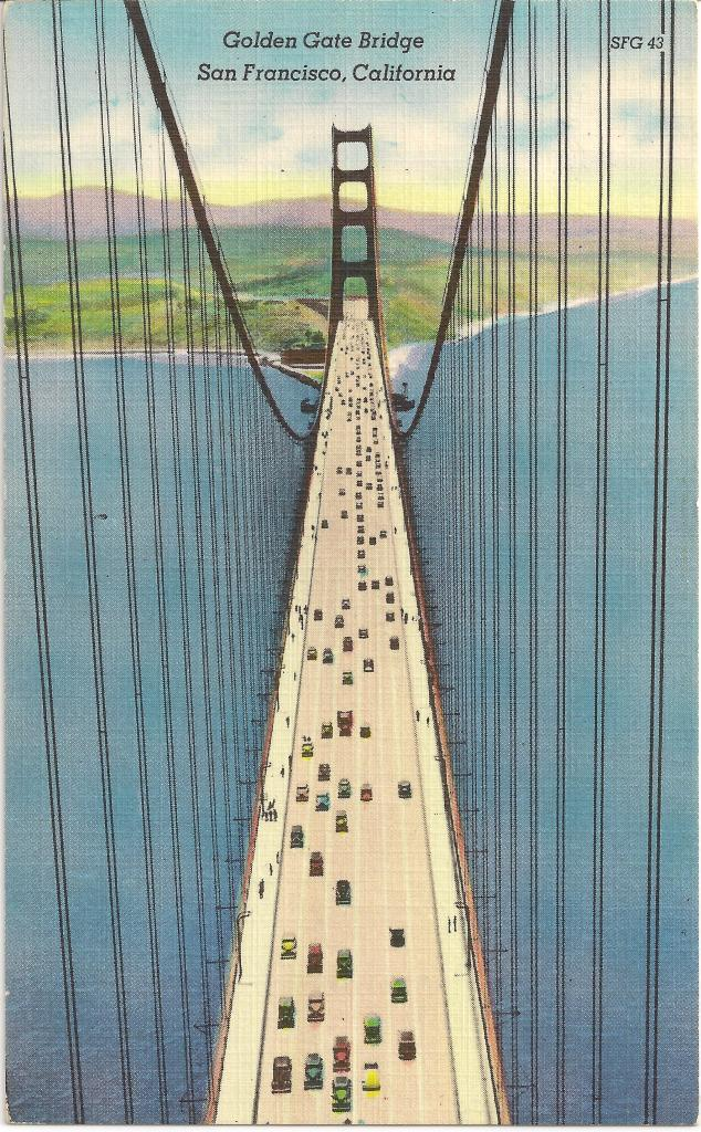 Golden Gate Bridge Postcard 1937 001