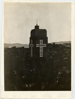 Telephone Building at Easter, 1929 courtesy San Francisco History Center, SF Public Library