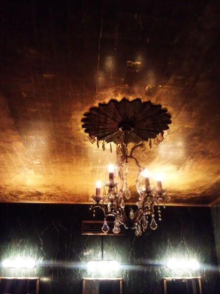 Original light fixture in former I. Magnin ladies room