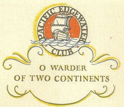 Pacific Edgewater Club logo on thick paper brochure cropped